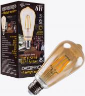 Лампа світлодіодна Светкомплект Vintage Fil Amber ST64 6 Вт E27 2500 К 220 В прозора