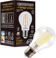 Лампа світлодіодна Светкомплект Vintage Fil A60 6 Вт E27 4500 К 220 В прозора