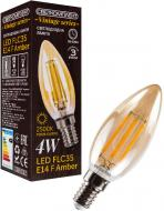 Лампа світлодіодна Светкомплект Vintage Fil Amber C35 4 Вт E14 2500 К 220 В прозора