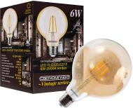 Лампа світлодіодна Светкомплект Vintage Fil Amber G125 6 Вт E27 2500 К 220 В прозора