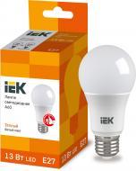 Лампа світлодіодна IEK ECO 13 Вт A60 матова E27 220 В 3000 К