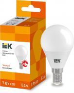Лампа світлодіодна IEK ECO 7 Вт G45 матова E14 220 В 3000 К