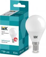 Лампа світлодіодна IEK ECO 7 Вт G45 матова E14 220 В 4000 К