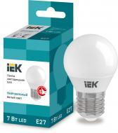 Лампа світлодіодна IEK ECO 7 Вт G45 матова E27 220 В 4000 К