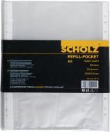Набір файлів-кишень А4 + 40 мкм матовий прозорий 100 шт. SCHOLZ