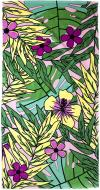 Полотенце Тропики зелено-розово-желтые 75x150 см