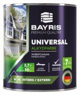 Эмаль универсальная алкидная Bayris зеленый высокий глянец 2,7кг