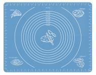 Силиконовый антипригарный коврик для выпечки и раскатки теста 50x40 см VOLRO Голубой (vol-333)