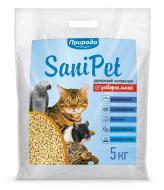 Наповнювач для котячого туалету Природа Sani Pet натуральний 5 кг