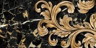 Плитка Golden Tile Saint Laurent чорний декор №1 9АС311 30x60