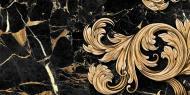 Плитка Golden Tile Saint Laurent чорний декор №2 9АС321 30x60