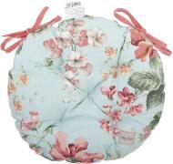 Подушка на стілець кругла Великі троянди 40 см La Nuit
