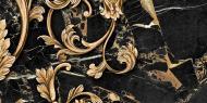 Плитка Golden Tile Saint Laurent чорний декор №4 9АС341 30x60