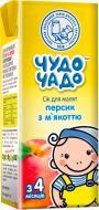 Сок Чудо-Чадо Персиковый с мякотью, сахаром и витамином С 200 мл 4820016251687