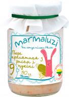 Пюре Marmaluzi Рис з кролятиною і цукіні 190 г 4779034140148