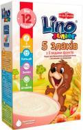 Каша безмолочная Lino Junior 5 злаков с фруктами 3850104279096 200 г