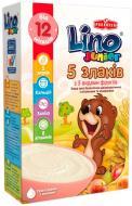 Каша безмолочна Lino Junior 5 злаків зі смаком ванілі 3850104277290 200 г