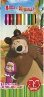 Олівці кольорові Маша та Ведмідь