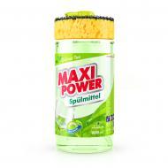 Засіб для ручного миття посуду Maxi Power Зелений чай з губкою 1л