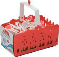 Прищепки пластик с корзиной для деликатных вещей в ассортименте 20 шт. Flora
