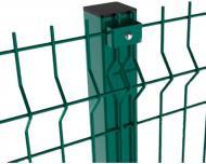 Стовп для огорожі Завод Сітка Захід Стандарт колор 2,5 м зелений