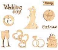 Набір заготовок Wedding 10 шт. 281338 Rosa Talent