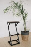 Барный стул GoodsMetall из металла в стиле ЛОФТ 750х350х350 БС16