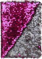 Блокнот Паєтки А5 96 арк. в рожево-сріблястий JONSER