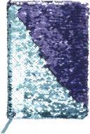 Блокнот Паєтки А5 96 арк. в клітинку бирюзово-синій JONSER