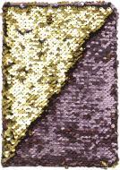 Блокнот Паєтки А5 96 арк. в клітинку золотисто-коричневий JONSER