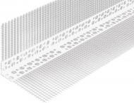 Кутник ПВХ перфорований з сіткою 100х100 мм 3 м
