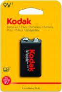 Батарейка KODAK Extra Heavy Duty 6F22 1 шт. (30953437)