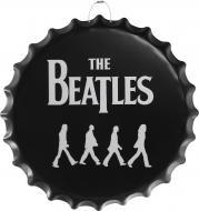 Декор настенный Крышка от бутылки The Beatles 40 см d40