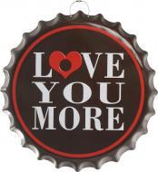 Декор настенный Крышка от бутылки Love you more 40 см d40