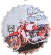 Декор настенный Крышка от бутылки Motorbike 40 см d40