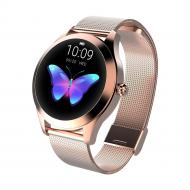 Умные смарт часы King Wear KW10 Metal с защитой от воды Розово-золотой