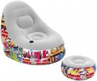 Крісло надувне Bestway Graffiti Comfort Cruiser 121х100 см різнокольоровий