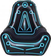 Крісло надувне Bestway Mainframe 112х99 см чорний із блакитним