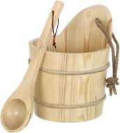 Набір для сауни шайка з черпаком 5 л KD-005B