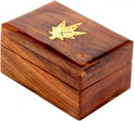 Скринька дерев'яна Листочок WB106-6