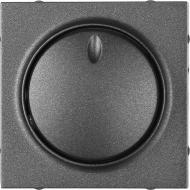 Панель світлорегулятора HausMark Alta SNG-SWP.SQ20MG1D-BK IP20 чорний SNG-SWP.SQ20MG1D-BK