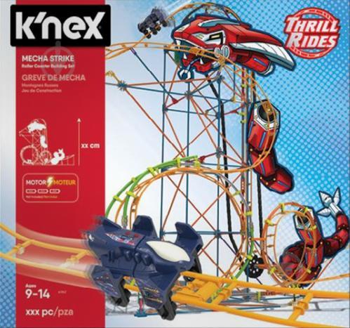8b5638293e01de ᐉ Конструктор K'Nex Американські гірки: механічний удар 18515 ...