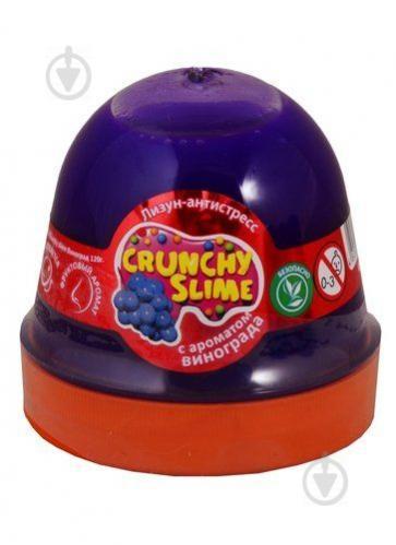 Лизун-антистресс MiC Crunchy Slime Виноград 120 г (80083) - фото 1