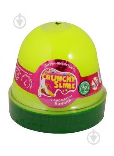 Лизун-антистресс MiC Crunchy Slime Банан 120 г (80089) - фото 1