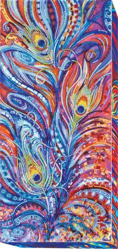 Набір для вишивання бісером на художньому полотні Магічне пір я AB-432  190х400 мм 863ff3dadba93