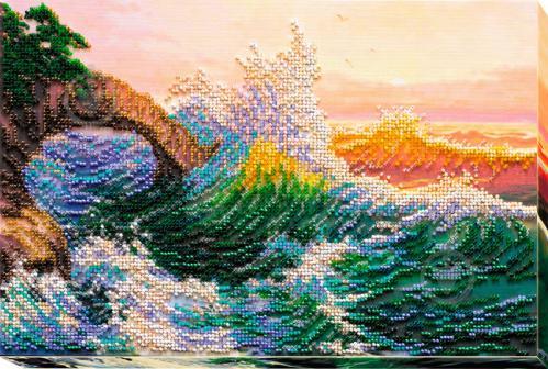 Набір для вишивання бісером на художньому полотні Морська історія AB-574  320x210 мм Абрис Арт 10bbf71a1ee35