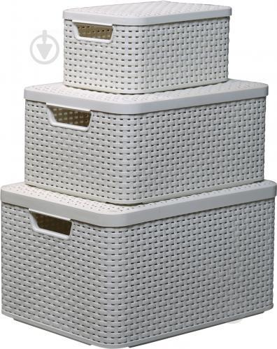 Набір ящиків для зберігання Curver Style крем розміри S/M/L - фото 1