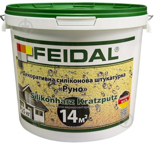 Декоративна штукатурка баранець Feidal Silikonharz Kratzputz 1 мм 25 кг білий - фото 1