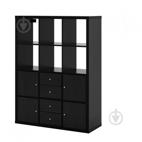 Стеллаж IKEA KALLAX 112x147 см Черно-коричневый (892.782.59) - фото 1