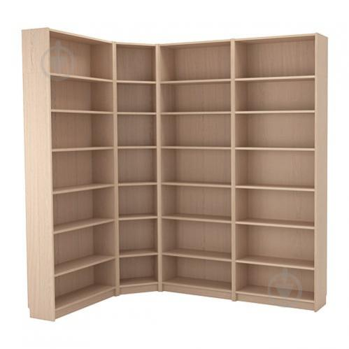 Стеллаж угловой IKEA BILLY 215/135x237x28 см Светло-коричневый (492.499.47) - фото 1